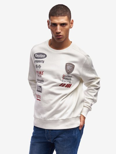 SWEAT-SHIRT RIDERS COL ROND