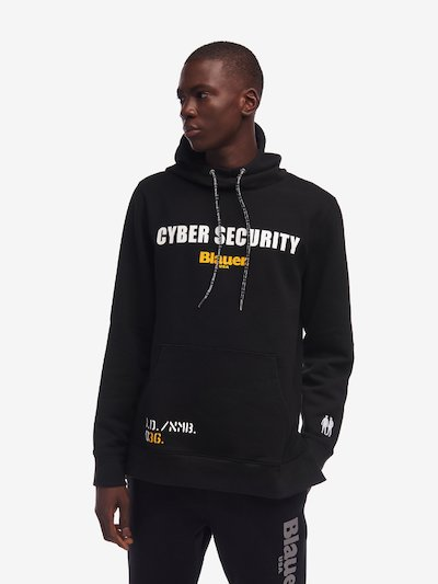 CLOSED SWEATSHIRT WITH CAMOUFLAGE HOOD