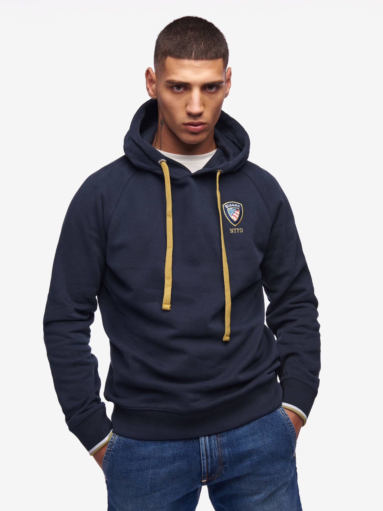 CREW NECK HOODED ACADEMY SWEATSHIRT - Blauer