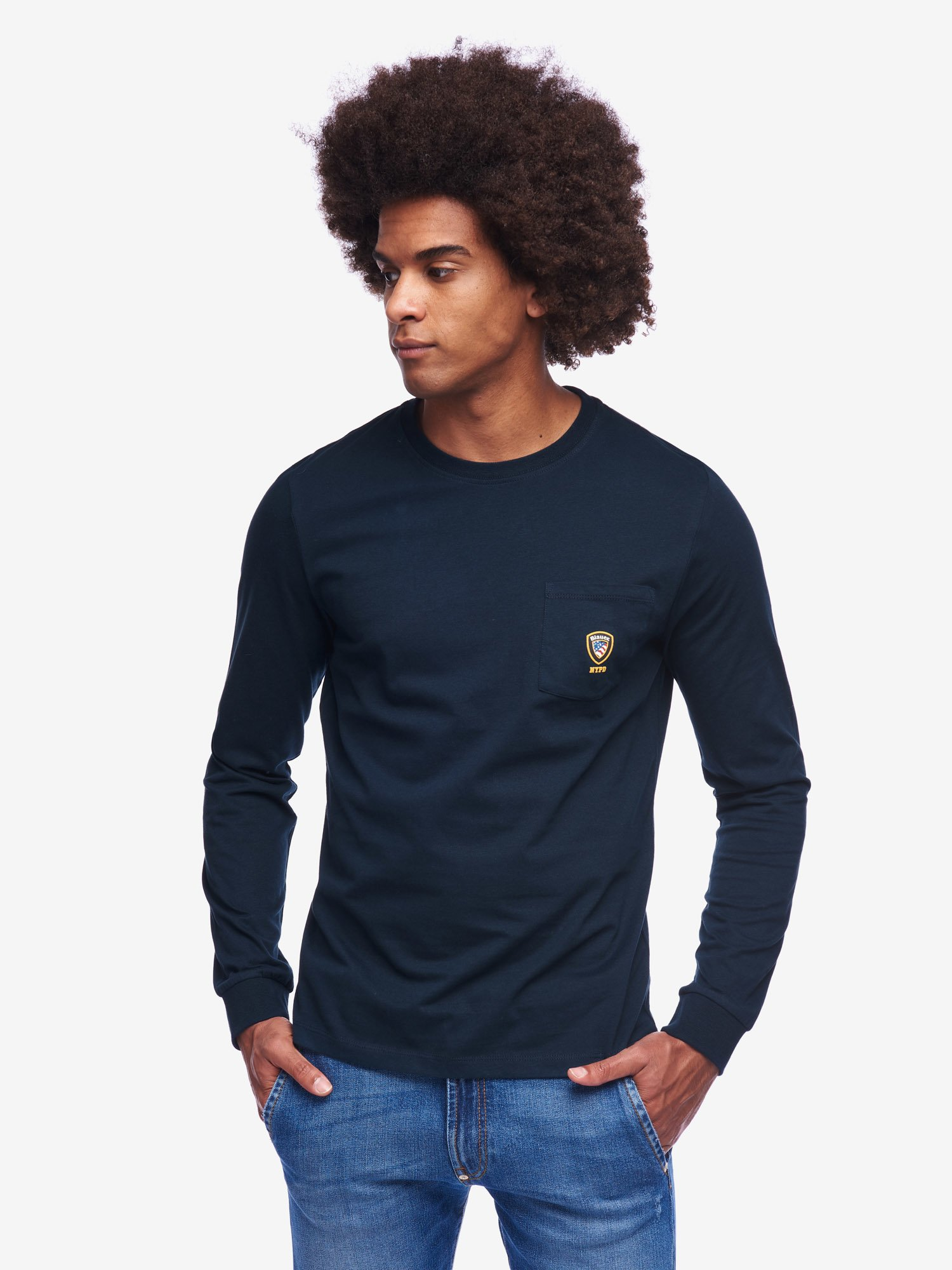 LONG SLEEVE T-SHIRT ACADEMY WITH CREW NECK - Blauer