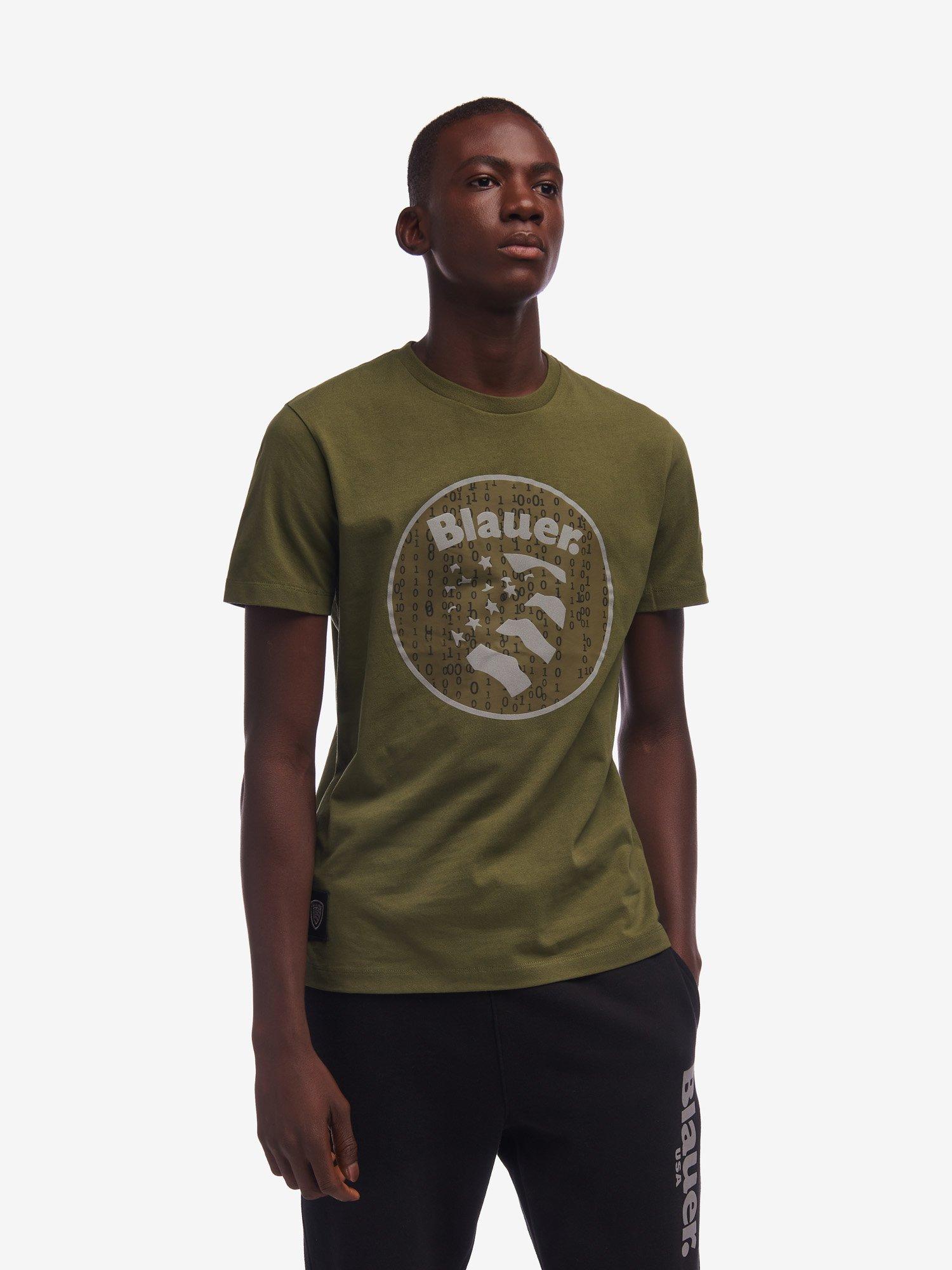 Blauer - SHORT SLEEVE 0110 T-SHIRT - Green Snake - Blauer
