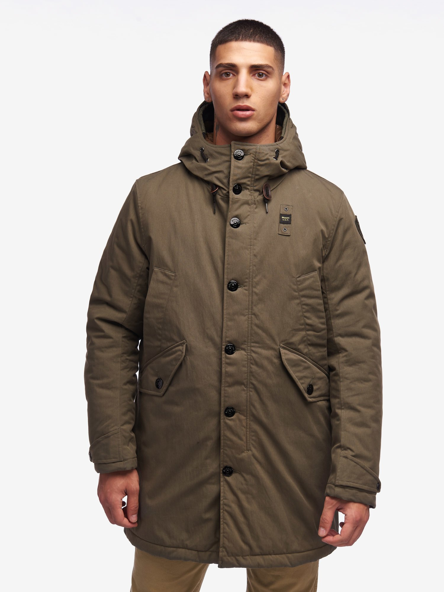 Blauer - BARKER PADDED MILITARY PARKA - Forest Green - Blauer