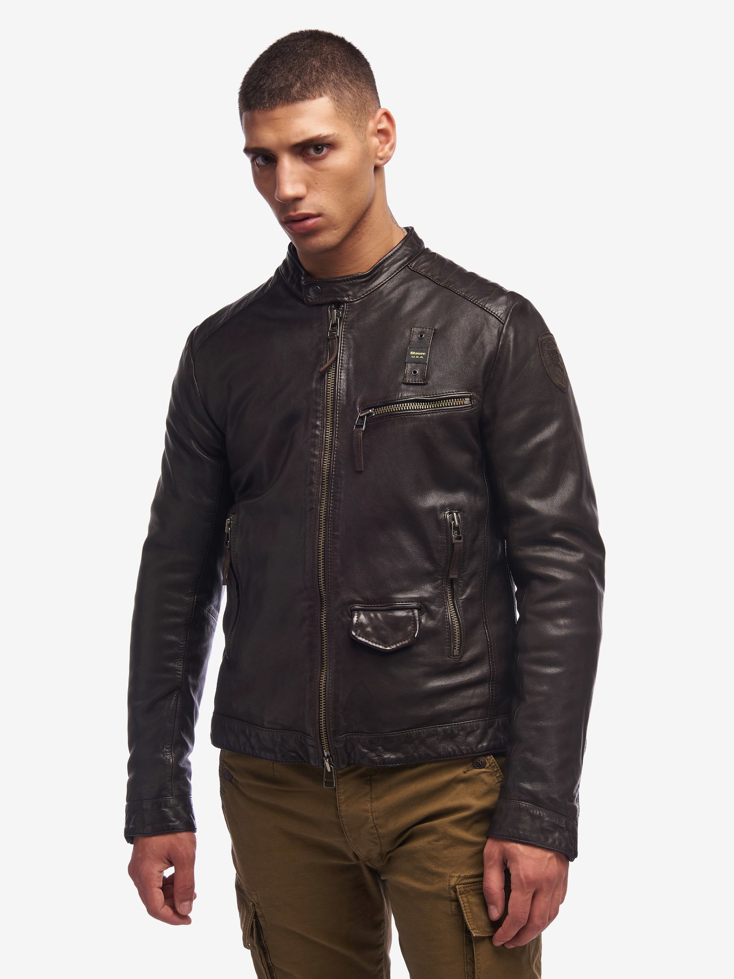PRICE PADDED BIKER JACKET - Blauer