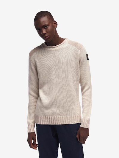 PULL COL ROND BICOLORE CLAIR-OBSCUR