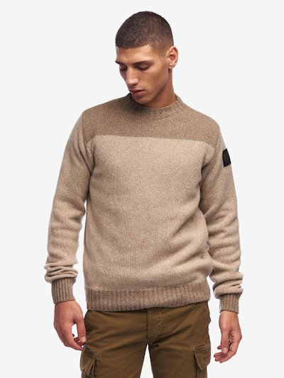 PULL COL ROND MOULINE