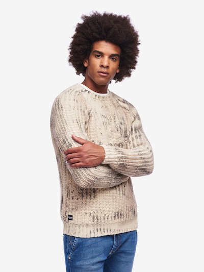 PRINTED CREW NECK SWEATER