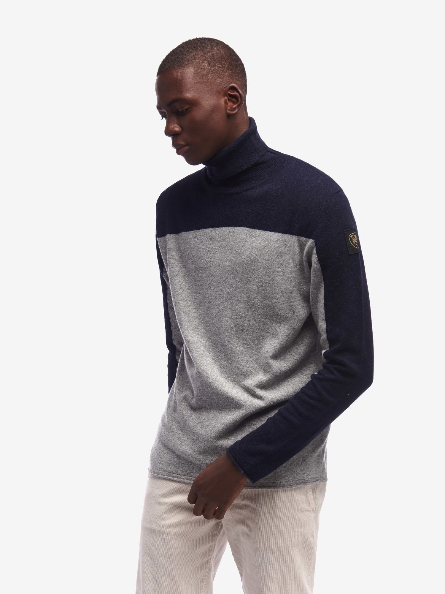 BICOLOUR TURTLENECK SWEATER - Blauer