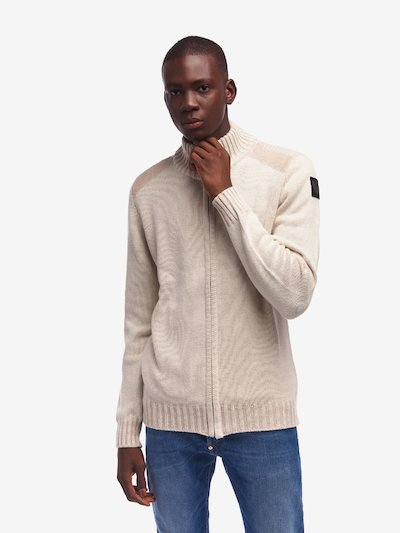 SWEATER WITH ZIP AND HIGH NECK
