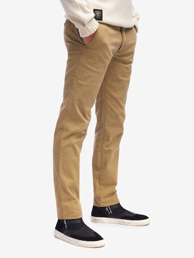PANTALON CHINO STRETCH EN GABARDINE