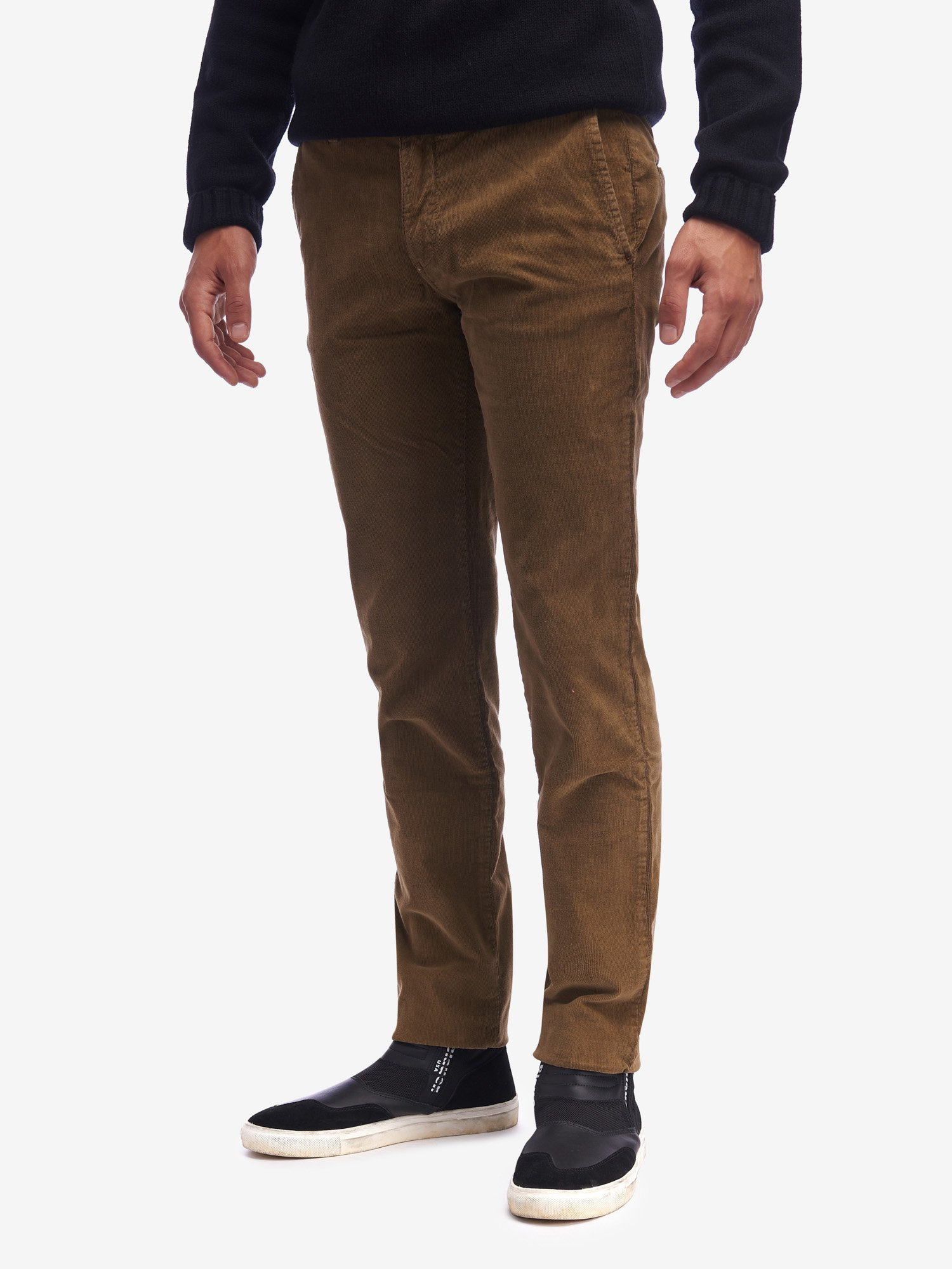 STRETCH PINWALE CHINO TROUSERS - Blauer