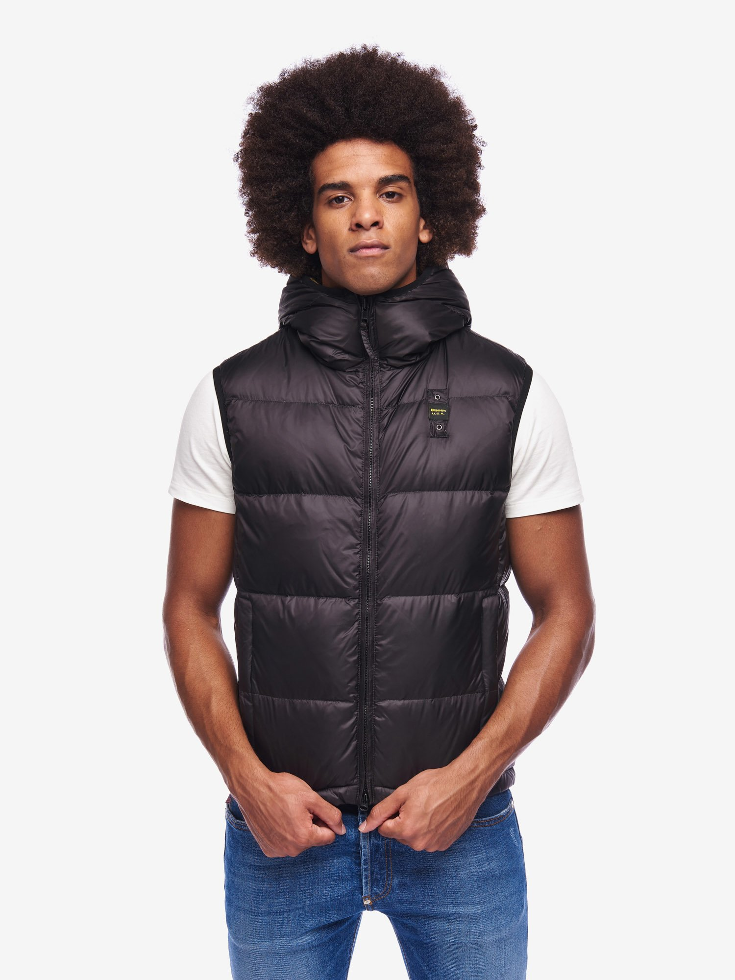 DOYLE HOODED DOWN VEST - Blauer