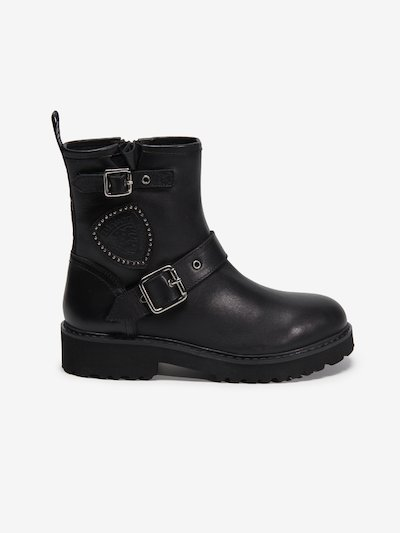 IRVINE LEATHER BOOTS WITH BUCKLE CLOSURE