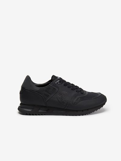BLACK MEMPHIS LEATHER NYLON RUNNING