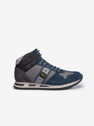 MUSTANG HIGH-TOP SUEDE TRAINERS