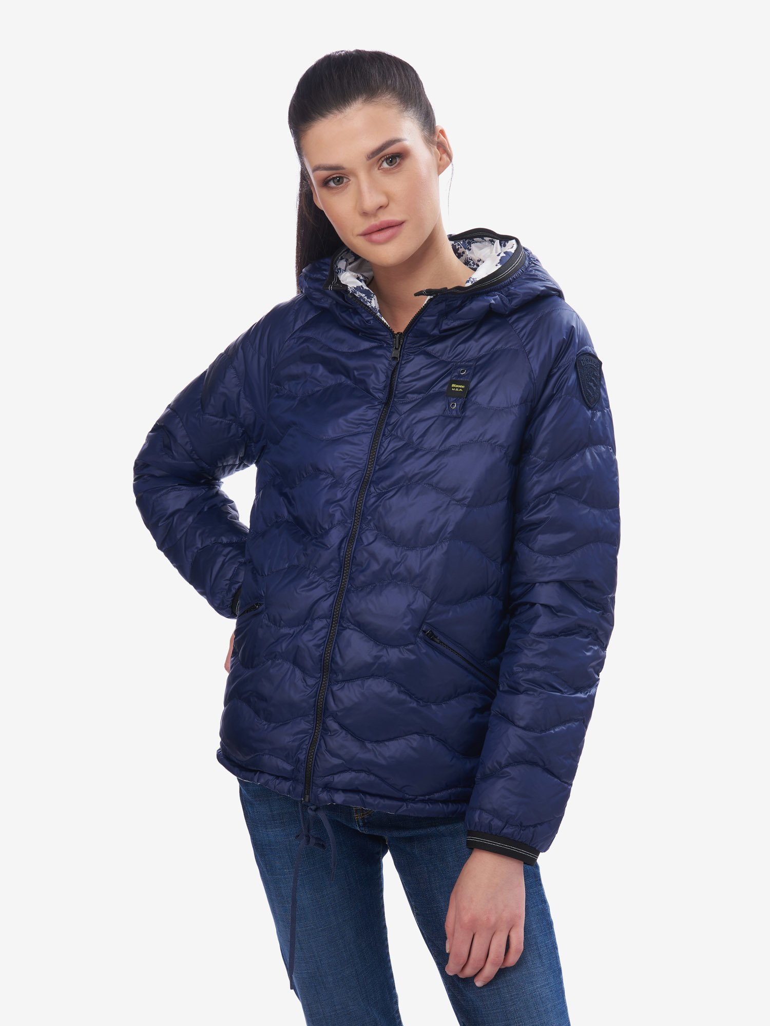 O NEILL REVERSIBLE SHINY DOWN JACKET 100 GR - Blauer
