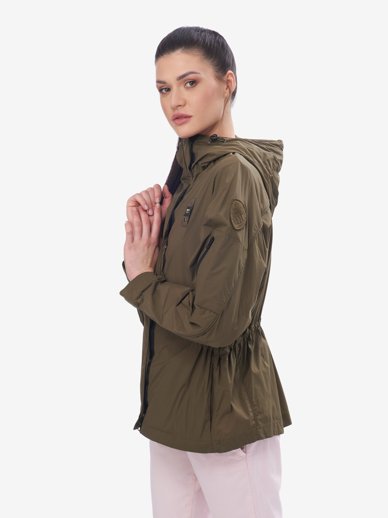 Blauer - CAMERON LARGE SLEEVE UNLIED JACKET - Pine Cone Green - Blauer
