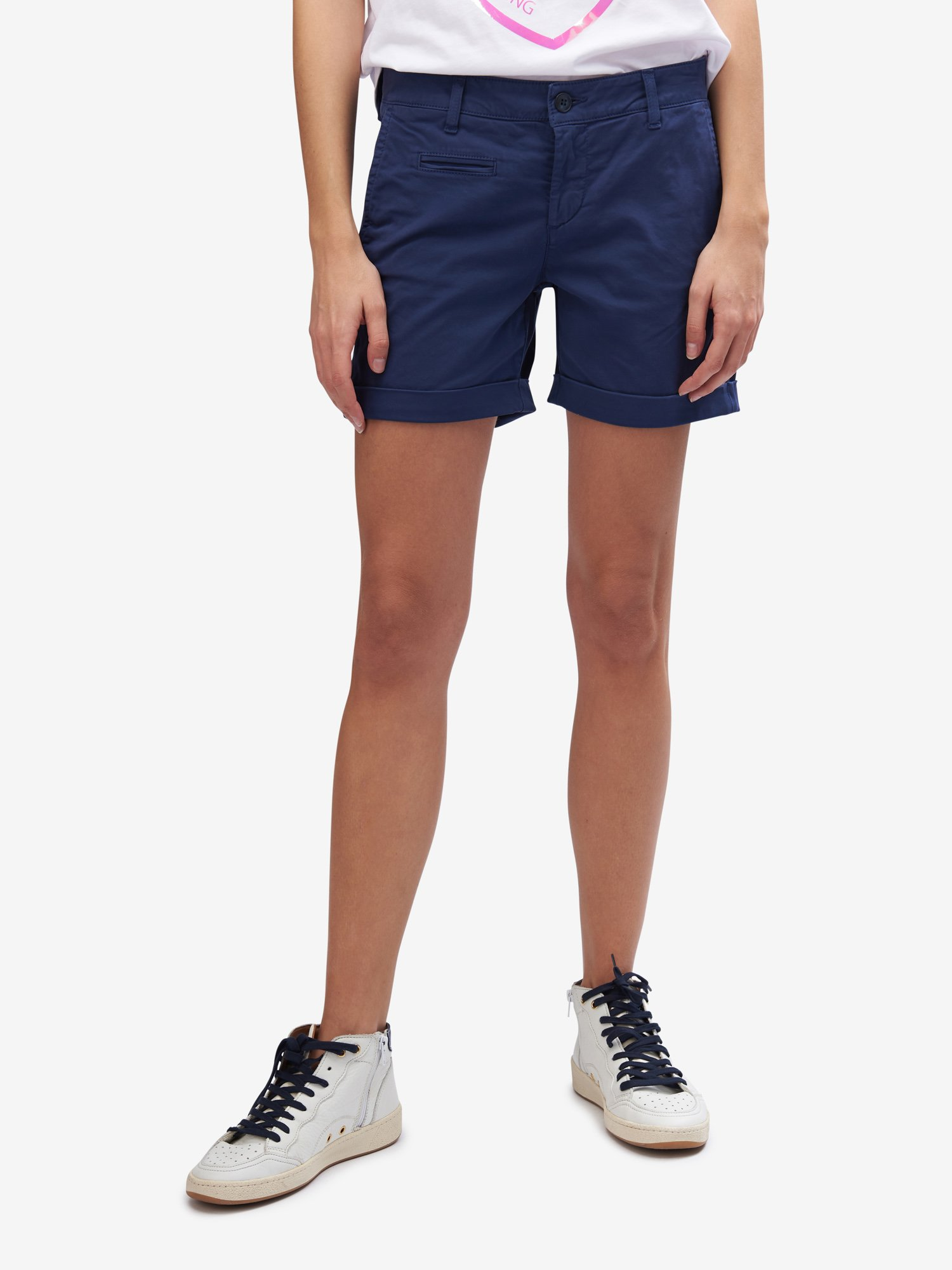 Blauer - COTTON-BLEND SHORTS - Blue Sapphire - Blauer
