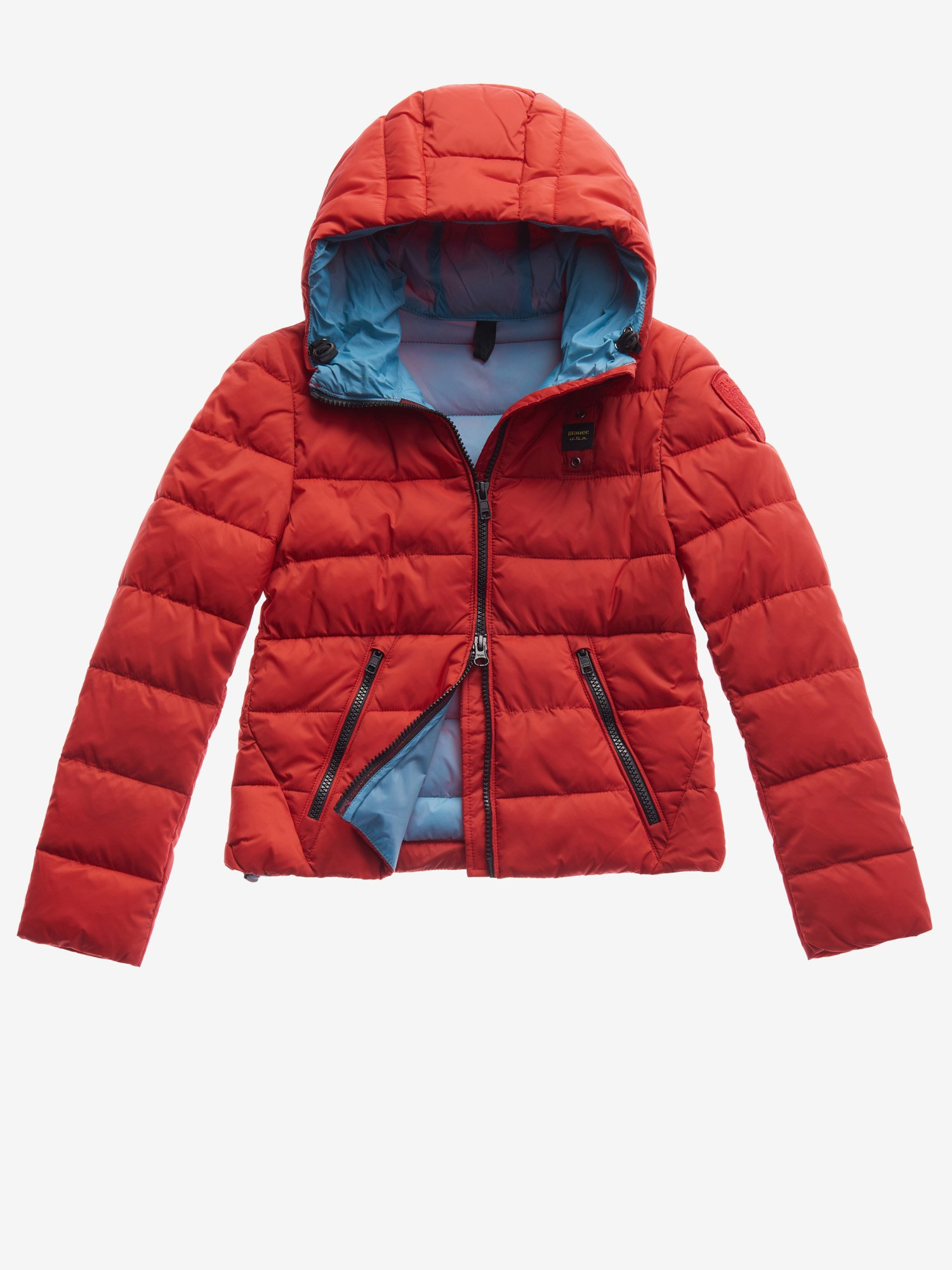 Blauer - JUNIOR JACKET WITH RECYCLED PADDING - Red Pepper - Blauer