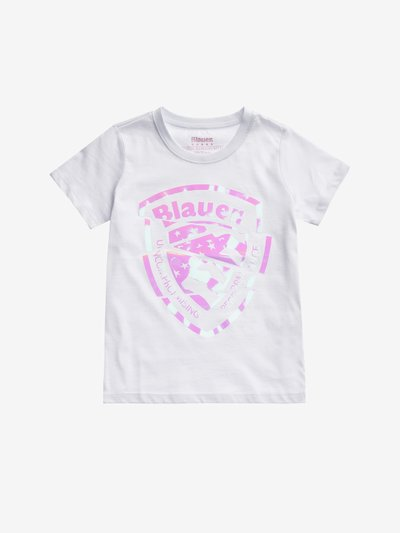 JUNIOR IRIDESCENT SHIELD T-SHIRT