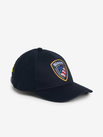 JUNIOR BASEBALL CAP WITH BLAUER PATCH