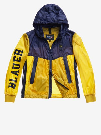 BLOUSON JUNIOR NYLON TRANSPARENT BICOLORE