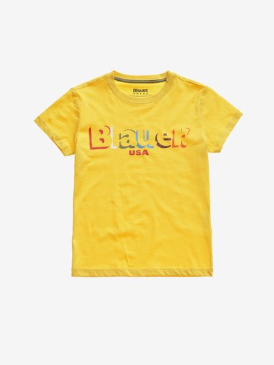 FARBIGES T-SHIRT JUNIOR BLAUER