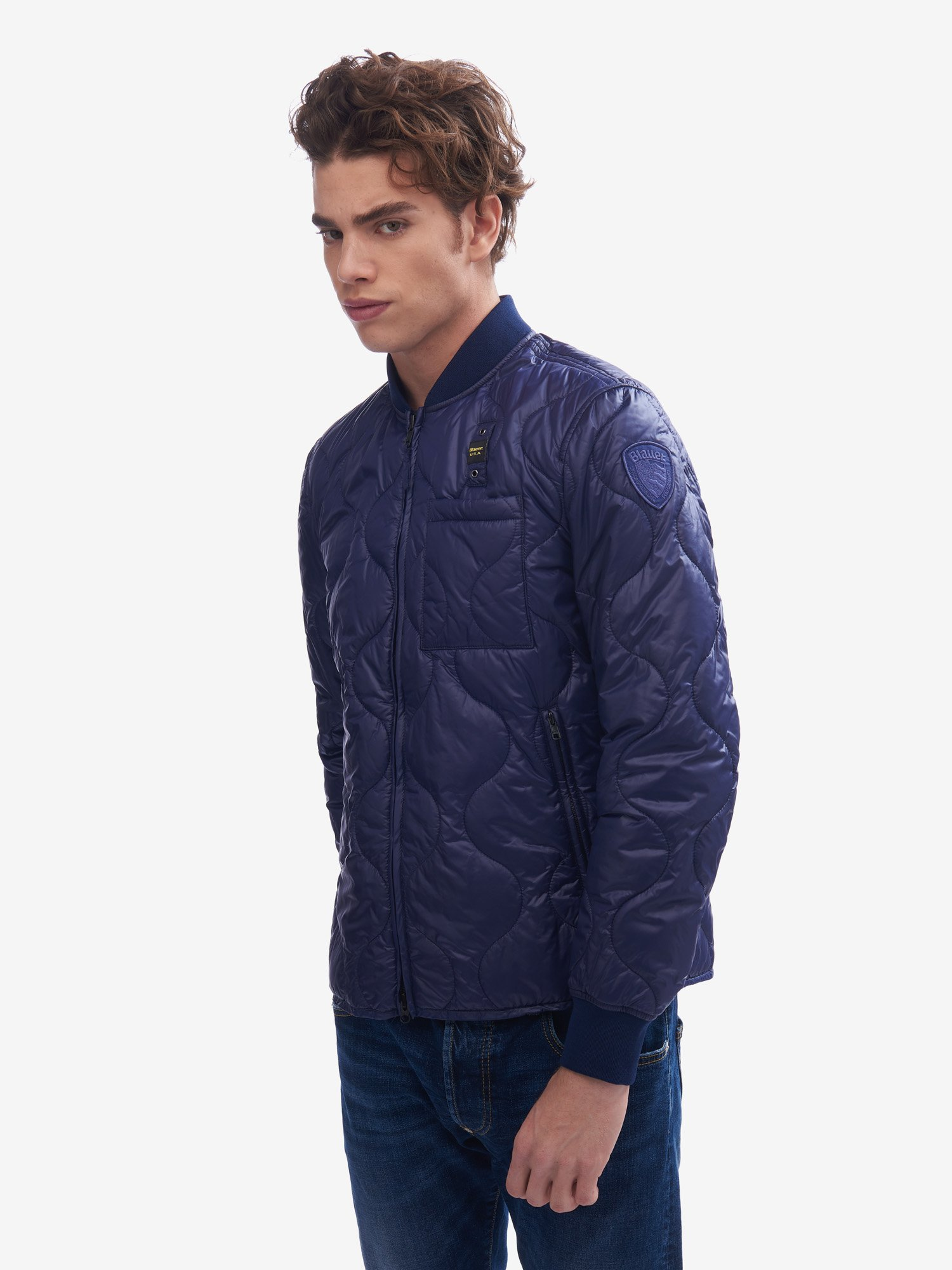 Blauer - BEGUM WAVE DOWN JACKET WITH ECO PADDING - Blue Sapphire - Blauer