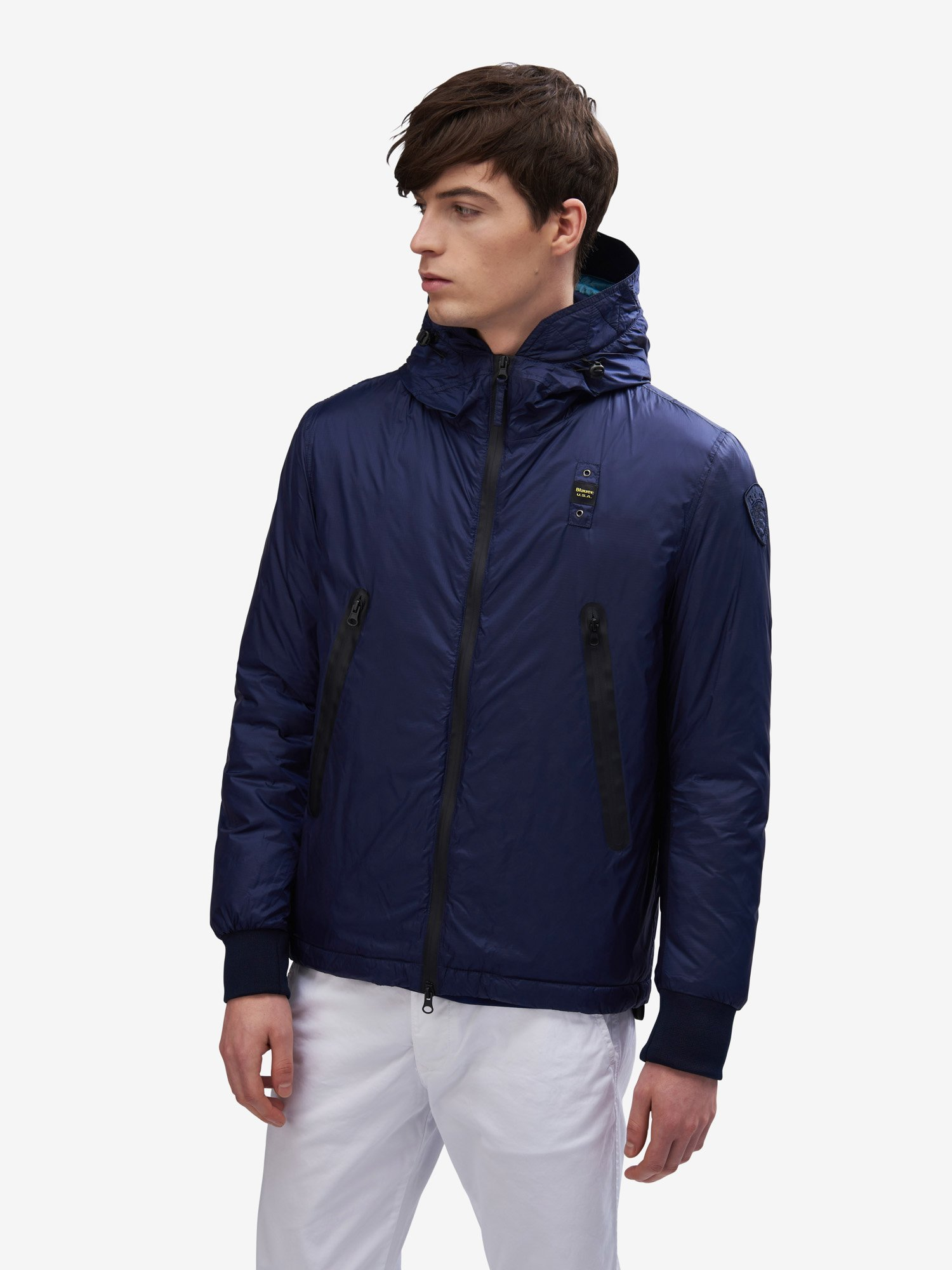 Blauer - TUCKER SMOOTH JACKET WTH ECO PADDING - Blue Sapphire - Blauer