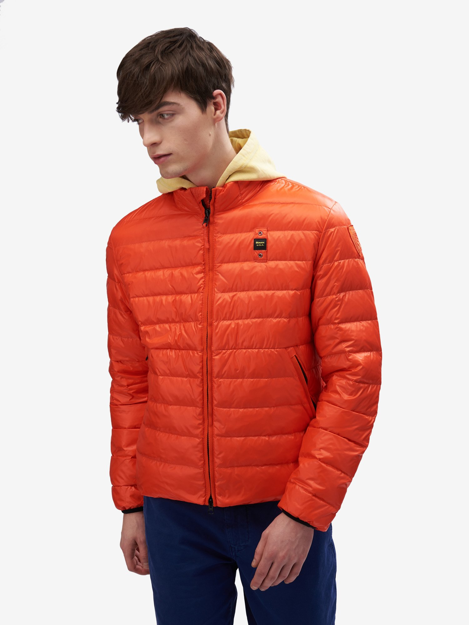 Blauer - BOB NYLON DOWN JACKET - Bright Orange - Blauer
