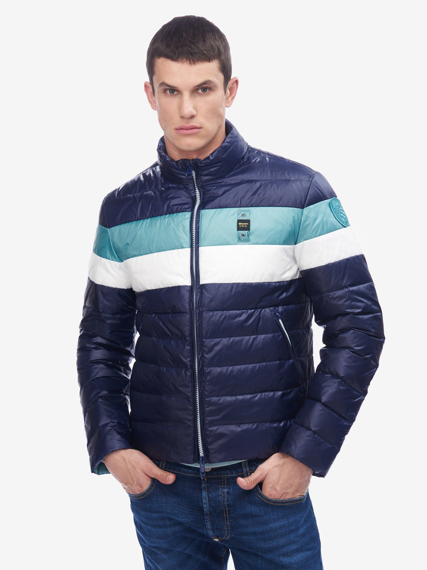 DUNN THREE-COLOUR DOWN JACKET - Blauer