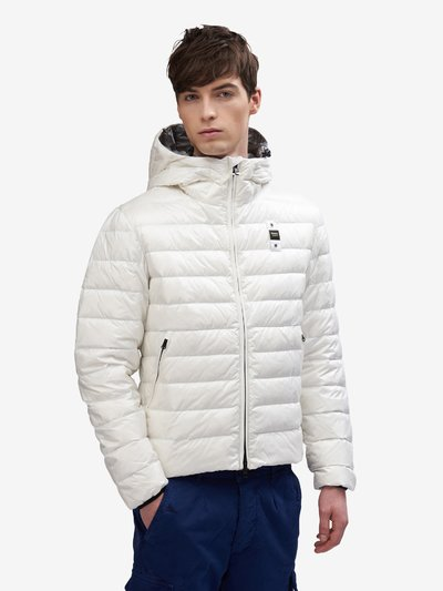 BASIC NYLON DOWN JACKET WITH POTTER HOOD
