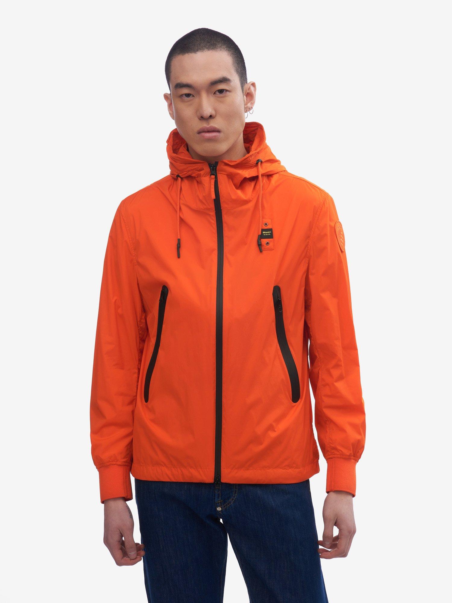 Blauer - SOUTHERLAND MATTE JACKET WITH HOOD - Bright Orange - Blauer