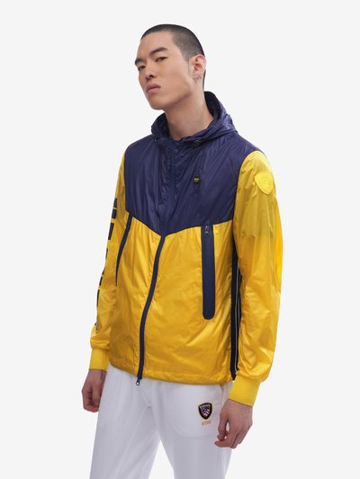 NEWTON TRANSPARENT TWO-TONE NYLON JACKET