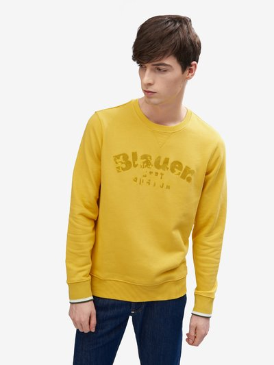 BASIC RUNDHALS-SWEATSHIRT