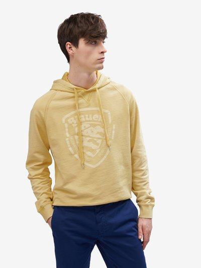 GARMENT-DYED HOODED SWEATSHIRT