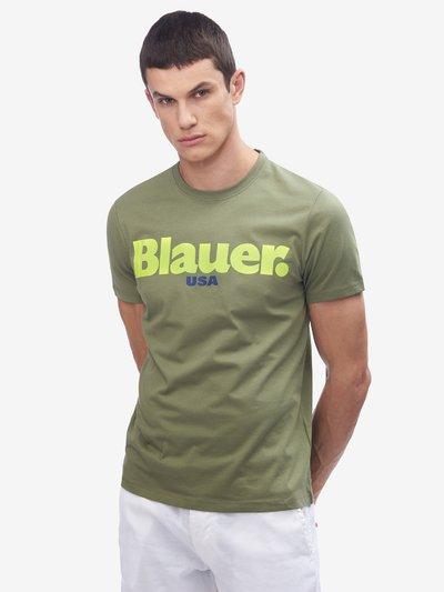 HERREN-T-SHIRT BLAUER USA