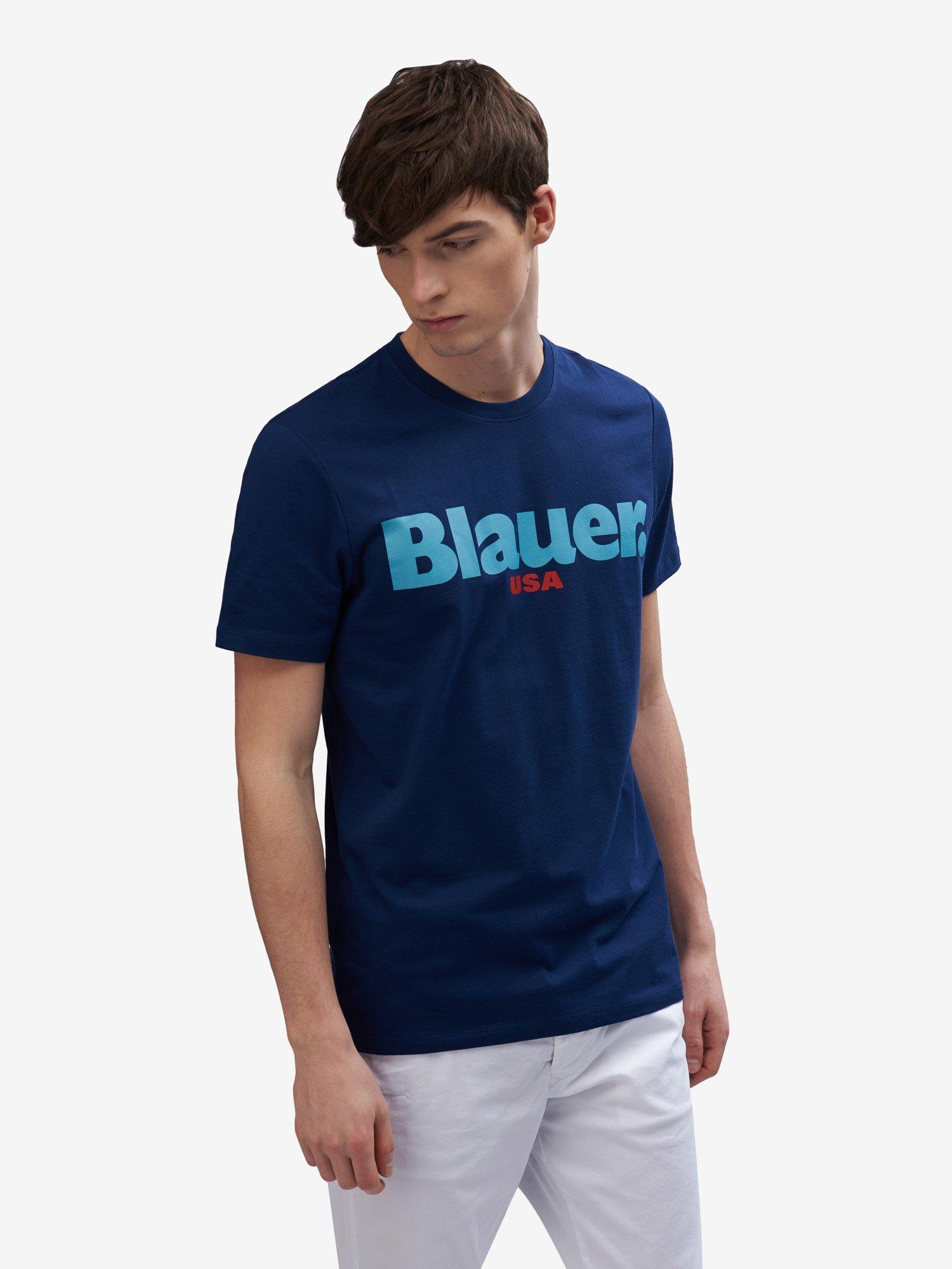 Blauer - ФУТБОЛКА МУЖСКАЯ BLAUER USA - Blue Sapphire - Blauer