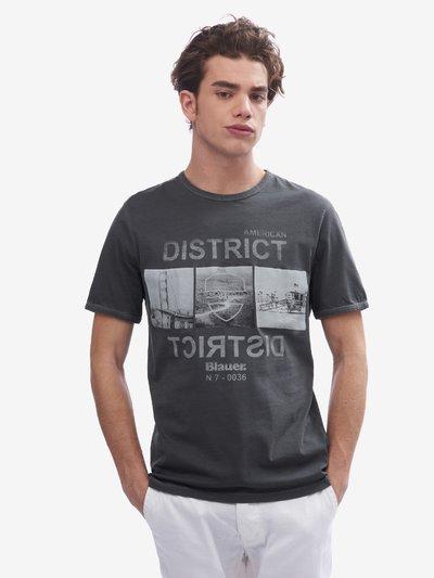 HERREN-T-SHIRT AMERICAN DISTRICT