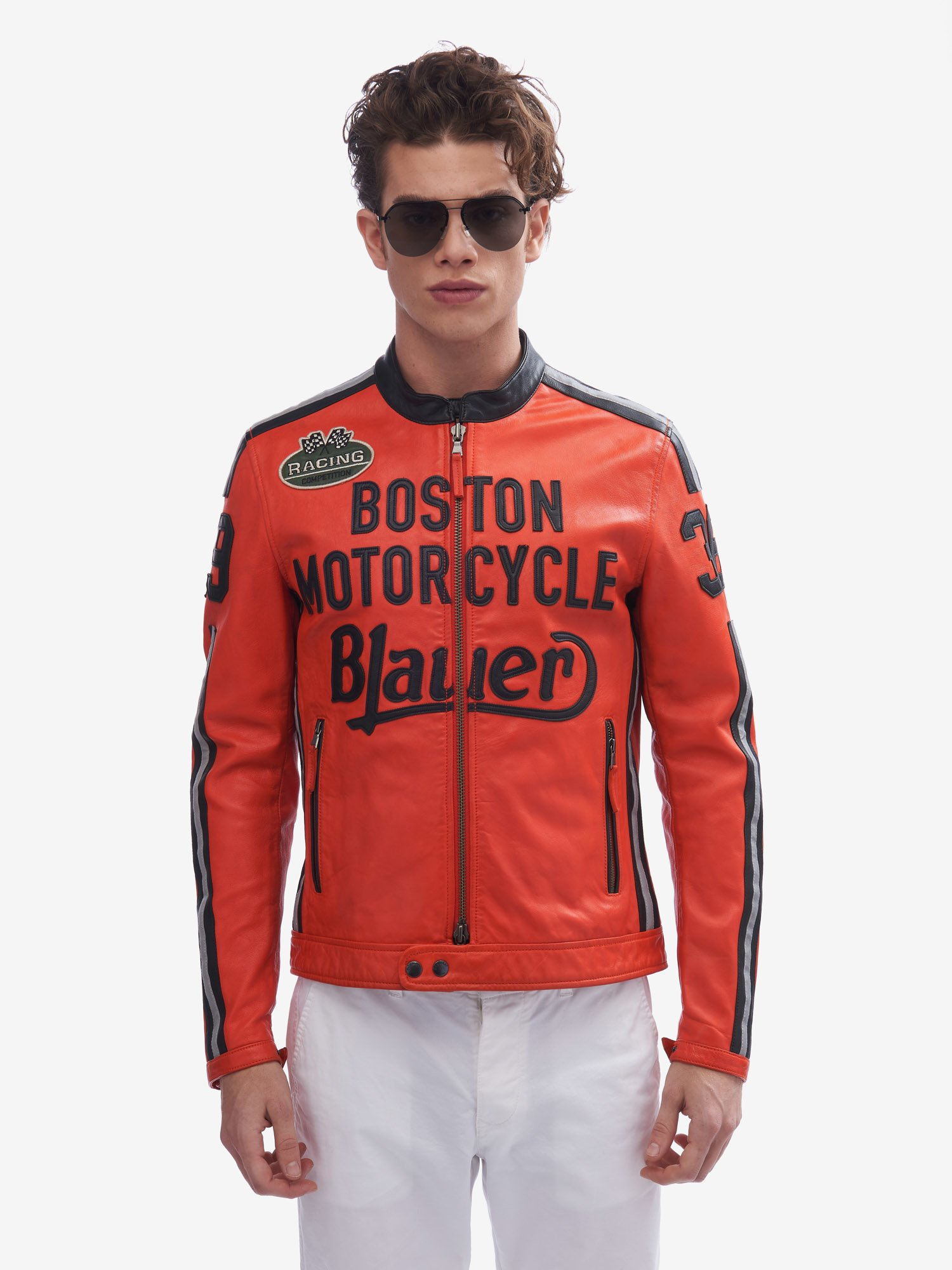 Blauer - BIKER-JACKE RACING COMPETITION KEMP - Bright Orange - Blauer
