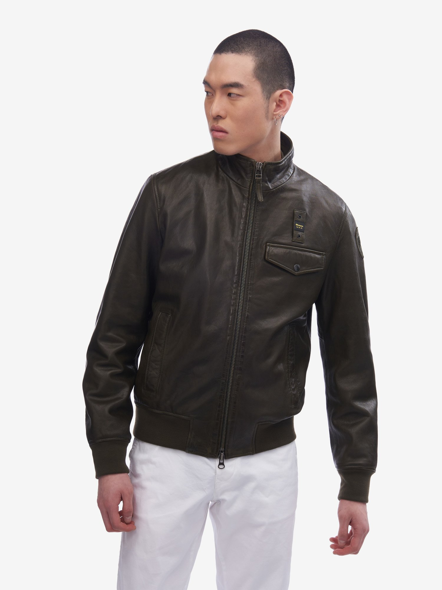 OLIVER BOMBER WITH POCKET - Blauer