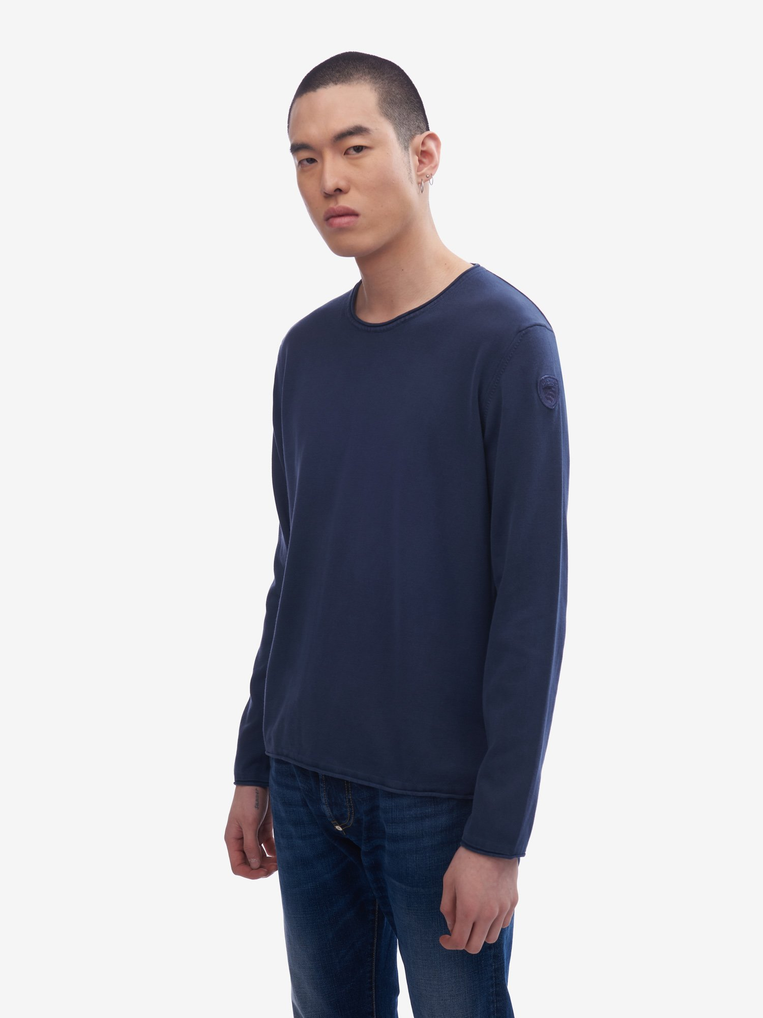 GARMENT-DYED SWEATER - Blauer