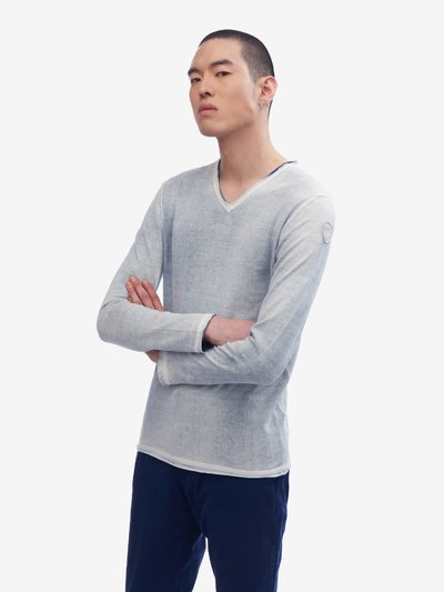 PLAIN KNIT V-NECK SWEATER