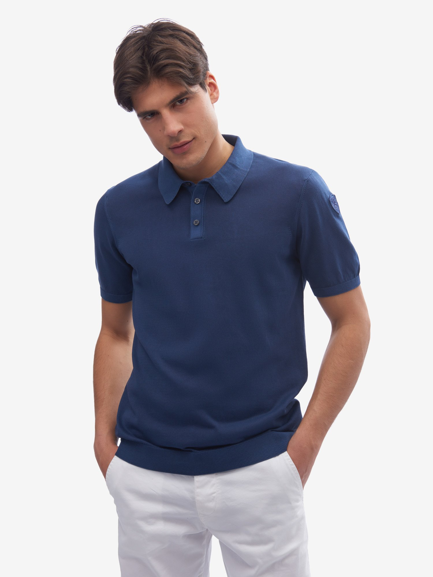PULL TYPE POLO - Blauer
