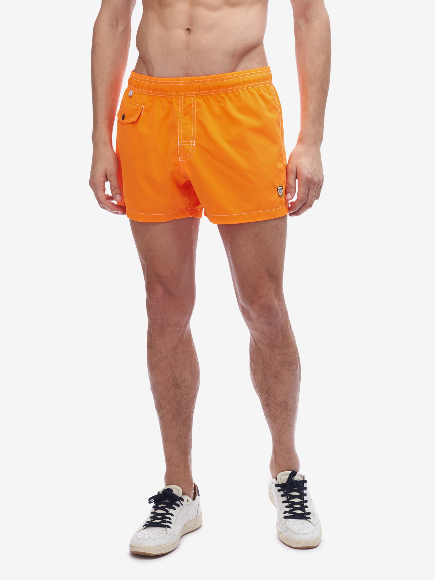 Blauer - BOXER EN NYLON - Fluo Orange - Blauer