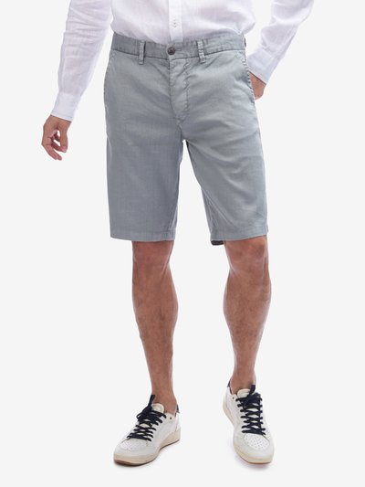 LINEN AND COTTON BERMUDA SHORTS