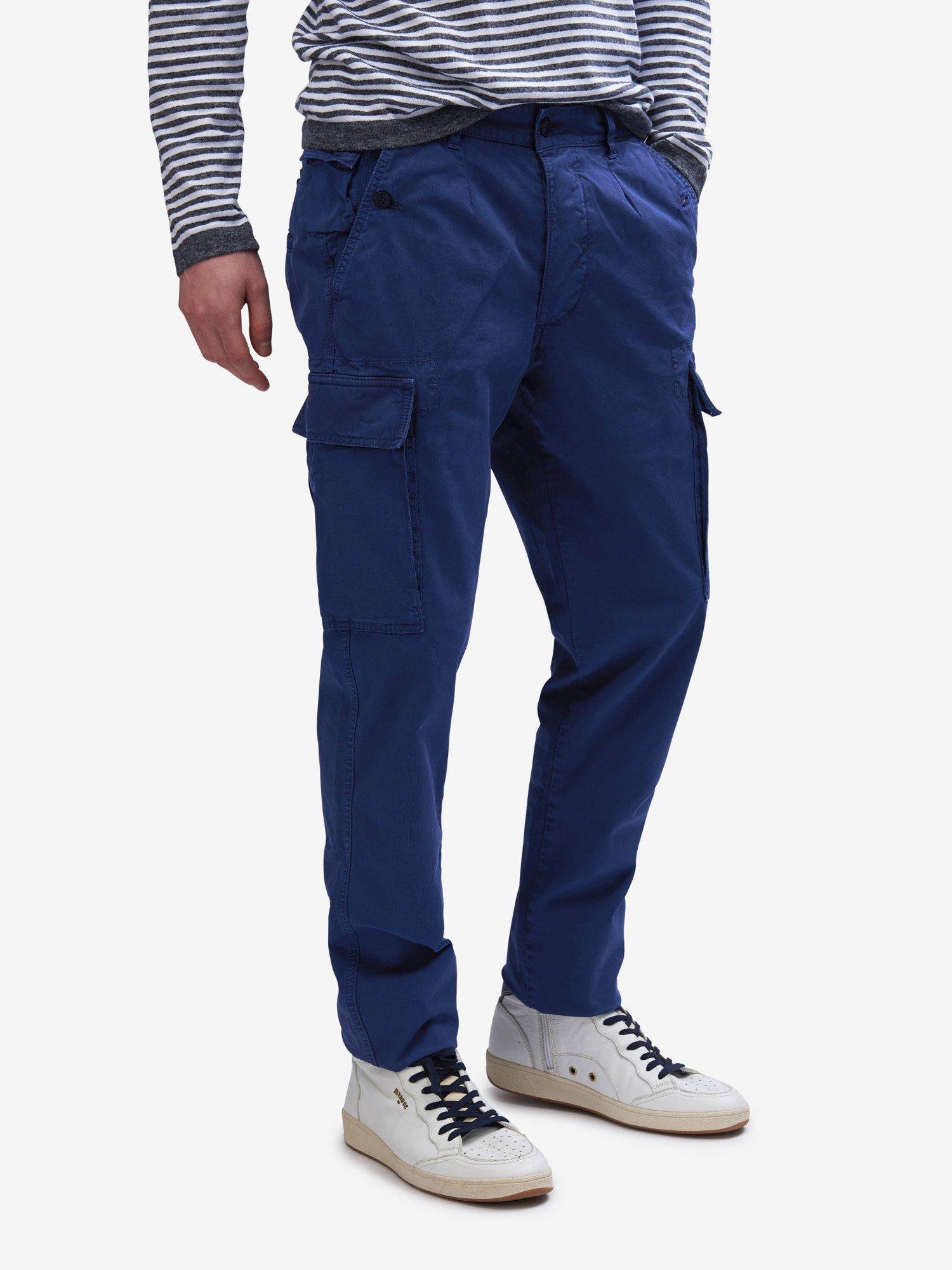 Blauer - MULTI-POCKET CARGO PANTS - Blue Sapphire - Blauer