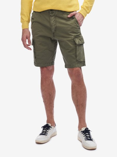 MULTI-POCKET CARGO BERMUDA SHORTS