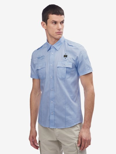 CHEMISE BOSTON BLAUER USA