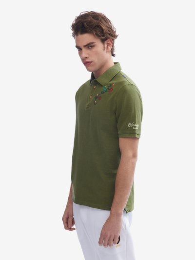 POLO SHIRT WITH FLORAL EMBROIDERY