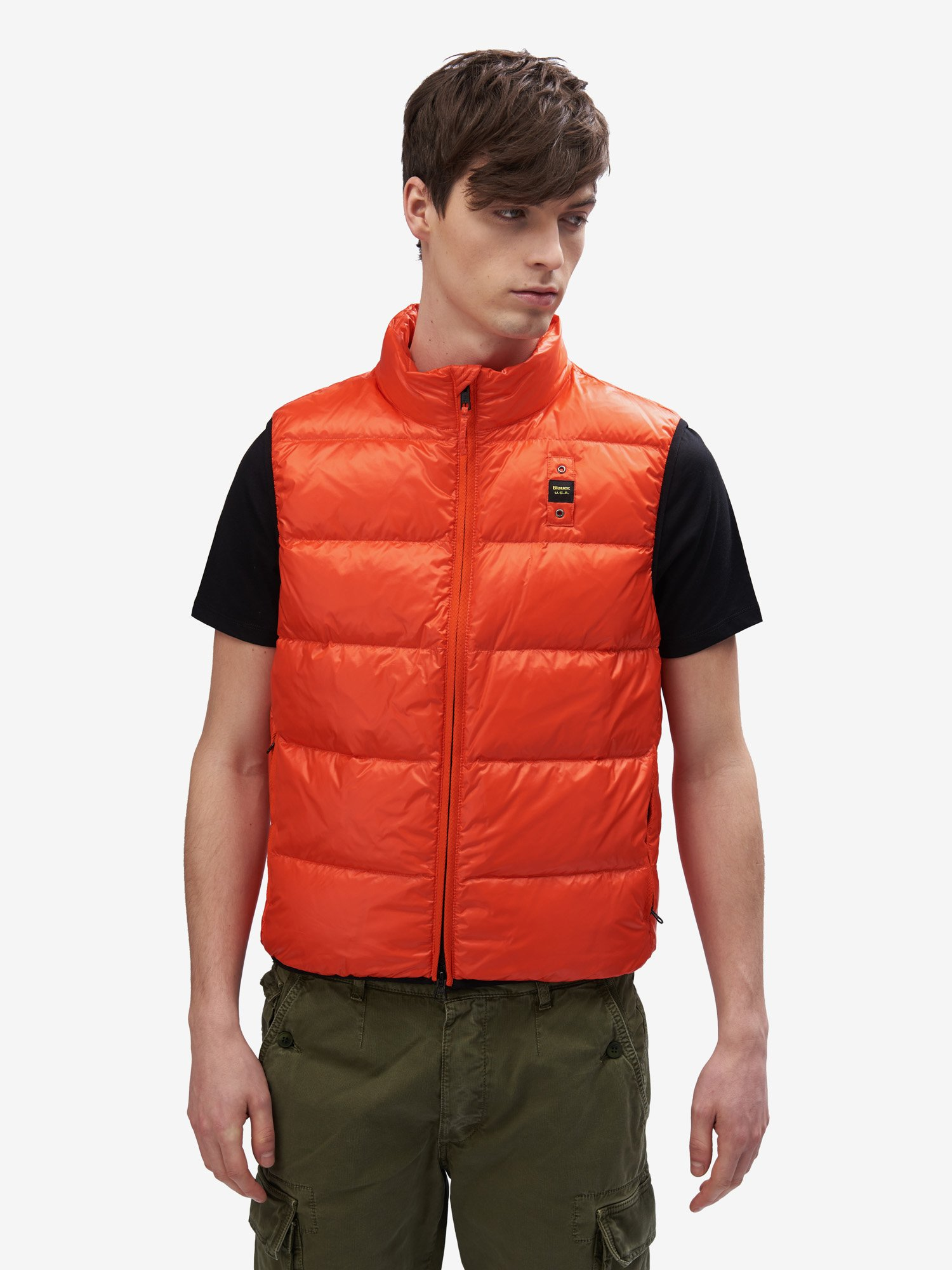Blauer - ASHTON DOWN VEST - Bright Orange - Blauer